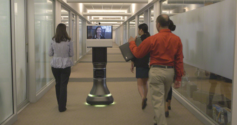 Ava(TM) 500 Video Collaboration robot combines iRobot's autonomous navigation with Cisco's TelePrese ...