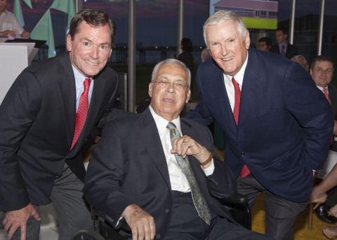 From left: Jay Hooley (chairman, president and CEO of State Street), Mayor Menino and Jack Connors, Jr. (president and co-founder of Camp Harbor View). Photo Credit: Logan Seale