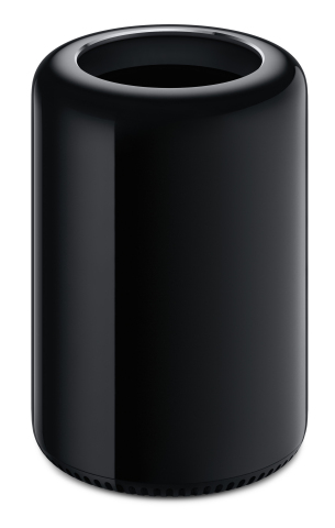 The next generation Mac Pro packs an amazing amount of power into an incredibly small package. (Photo: Business Wire)