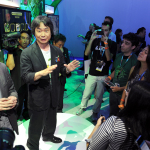In this photo provided by Nintendo of America, famed video game designer Shigeru Miyamoto shows off Pikmin 3 during a Q&A session with media during the Wii U Software Showcase @ E3 2013 on June 11, 2013 in Los Angeles. The Electronic Entertainment Expo (E3) is the video game industry's premier trade show. (Photo: Business Wire)