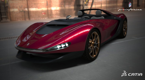 Courtesy of Pininfarina, the 'Sergio' concept car made with CATIA for Creative Designers (Photo: Bus ...