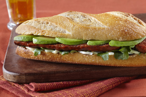 Chef Eric Tanaka's Grilled Chorizo Sandwiches with Shaved Fennel and California Avocado (Photo: Business Wire)