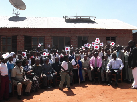 Donation ceremony at Mabilioni Secondary School in Kilimanjaro, Tanzania (Photo: Business Wire)