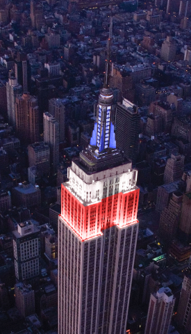 The Empire State Building will join the Macy's 4th of July Fireworks party with a one-of-a-kind ligh ...