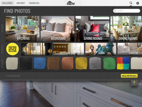 HGTV Folio Browse Function (Graphic: Business Wire)