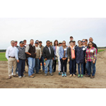 Members of STOP Foodborne Illness, including individuals sickened in outbreaks associated with leafy greens, pose for a photo along with government auditors and California Leafy Greens Marketing Agreement staff and members during a tour of a leafy greens farm in Oceano, CA. (Photo: Business Wire)