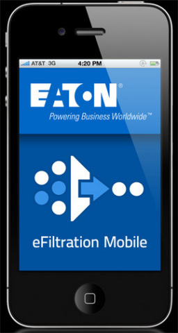 Eaton's eFiltration Mobile App (Photo: Business Wire)