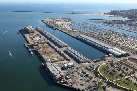 Aerial view of future home of AltaSea, an urban marine research and innovation center at the Port of Los Angeles (Photo: Business Wire)