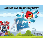 Hasbro and Rovio announce a new, expanded agreement making Hasbro the premier toy and game licensee for Rovio and the Angry Birds brand including the upcoming Angry Birds Go! property. (Graphic: Business Wire)