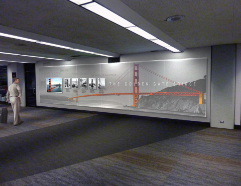 Proposed historical wall features one of the most iconic marvels of engineering: the Golden Gate Bri ...
