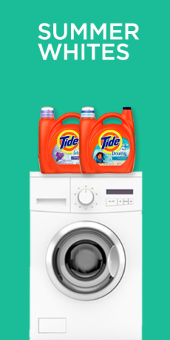 Keep your summer whites bright and fresh with Tide plus Downy Clean Breeze and Tide plus Febreze Spring & Renewal (Graphic: Business Wire)