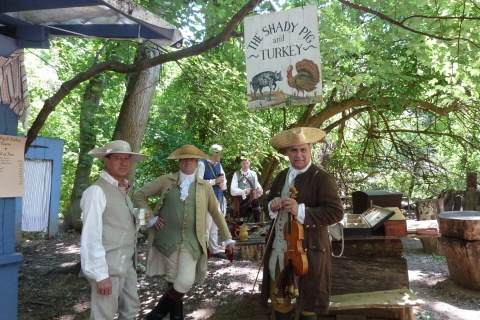 Virginia colonists at the Claude Moore Colonial Farm's Summer Market Fair (Photo: Business Wire)
