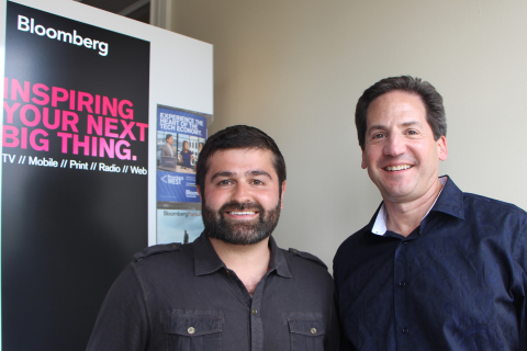 Slava Rubin, CEO of Indiegogo, and Greg Sebasky, Chairman of Philips North America, at Bloomberg's Next Big Thing where Philips announced its Innovation Fellows Competition, hosted by Indiegogo. (Photo: Business Wire)