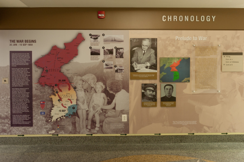 One of the many visuals displayed on Tuesday, June 18th, at the unveiling of the new Korean War Exhibit at the Pentagon. (Photo: Department of Defense)