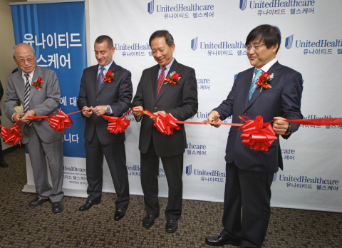UnitedHealthcare executives and community leaders cut the ribbon to commemorate the grand opening of ...