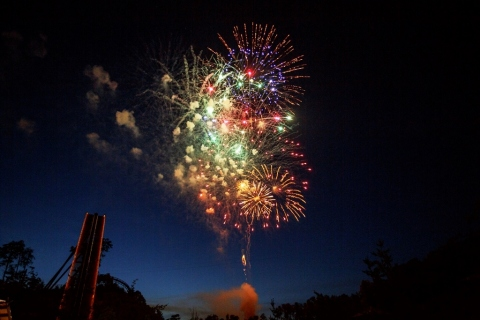 Fireworks explode over Dollywood's Wild Eagle coaster as a part of the new Great American Summer going on now through August 6 at Dollywood in Pigeon Forge, Tennessee. A nightly fireworks show called Dolly's Nights of Many Colors will close each 10 a.m. - 10 p.m. operating day. (Photo: Business Wire)