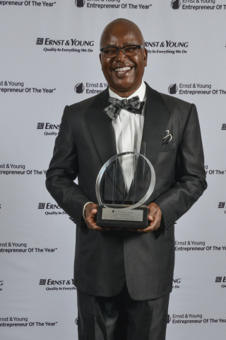 June 18, 2013 - Clarence Daniels, Jr., Chairman & CEO, Concession Management Services, Inc., receives Ernst & Young Entrepreneur Of The Year Award for the Consumer Services category. (Photo: Business Wire)
