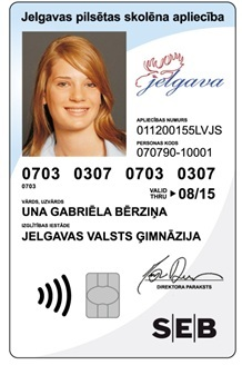Tarjeta sin contacto de SEB Latvia (Foto: Business Wire)