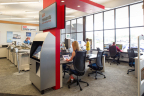 A new Business Lounge combines digital interactions with the store experience, with meeting space and work stations for mobile professionals and the ability to research and order from Staples' expanded selection of products. (Photo: Business Wire)