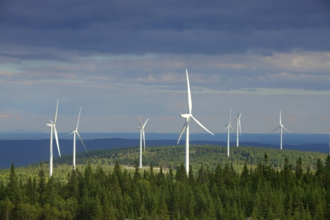 Massif du Sud Wind Project (150 MW) in Quebec. (Photo: Business Wire)