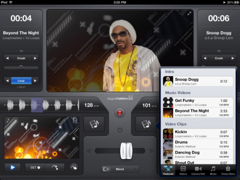 The vjay app update is now preloaded with an exclusive Snoop Dogg pack. Download for FREE for one week only! (Photo: Business Wire)