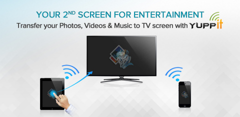 Push videos, music and photos from Phone to TV Screen