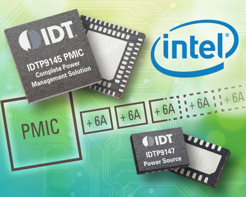 IDT Announces Innovative Power Management Solution Validated for Intel(R) Atom(TM) Processor-based Applications (Graphic: Business Wire)