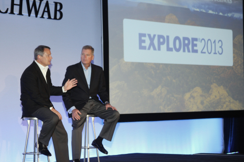 Schwab's Walt Bettinger, President and CEO and Bernie Clark, EVP, Advisor Services at EXPLORE 2013 c ...