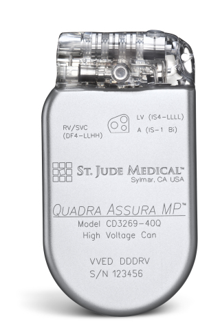 Quadra Assura MP(TM) CRT-D. (Photo: St. Jude Medical)