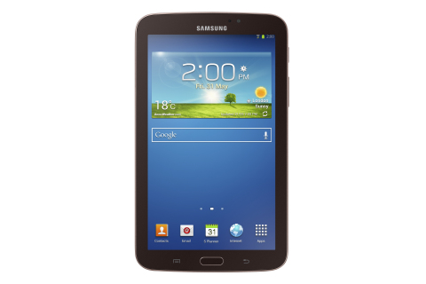 Galaxy Tab 3 7.0 Gold Brown (Photo: Business Wire)