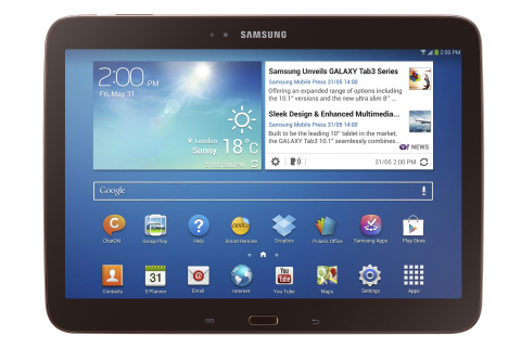 Galaxy Tab 3 10.1 Gold Brown (Photo: Business Wire)