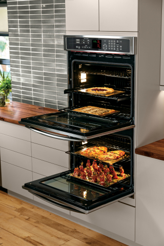 The Direct Air convection technology in GE's new wall ovens significantly increases air coverage on food, resulting in enhanced cooking performance. (Photo: GE)