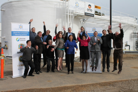The CLEANWORLD Team is jumping for joy at the groundbreaking of its Sacramento BioDigester expansion earlier this week. Already successfully processing 10,000 tons per year, CleanWorld's Sacramento BioDigester will be fully scaled to a 40,000 ton per year system by December, 2013. (Photo: Business Wire)