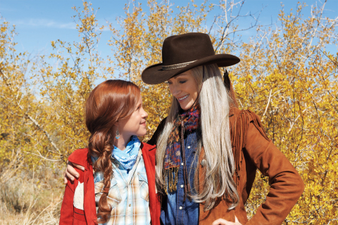 Jane Seymour and Sidney Fullmer in An American Girl: Saige Paints the Sky (Photo: Business Wire)