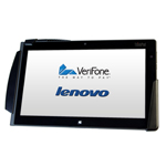 Lenovo's ThinkPad Tablet 2 combined with exclusive VeriFone PAYware Mobile technology provides retailers with a Windows 8 Pro mobile POS platform that easily integrates with existing back-end infrastructure and traditional POS systems. (Photo: Business Wire)
