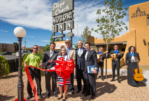 UnitedHealthcare Community & State of New Mexico CEO Kevin Kandalaft holds the scissors during a rib ...