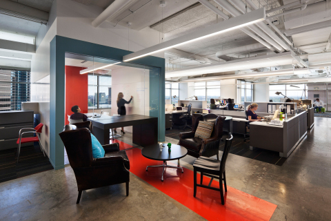 BALANCED SPACE 22squared, Atlanta, GA Space Concept: Consider space design that allows for effortless flow between work modes, for example focus and collaboration in proximity to one another in the workplace (Photo: Business Wire)