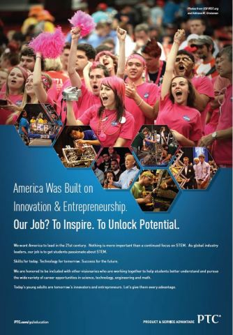 PTC proudly supports STEM initiatives to develop tomorrow's innovators and entrepreneurs