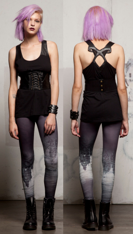 The Mortal Instruments Angelic Power Tank and Shadow World Leggings designed by TRIPP nyc exclusively for Hot Topic. (Photo: Business Wire)