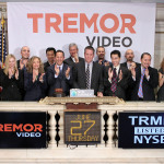 Tremor Video CEO Bill Day, joined by members of the company's leadership team, rings the NYSE Opening Bell to mark Tremor Video's IPO and first day of trading on the NYSE. (Photo: Business Wire)