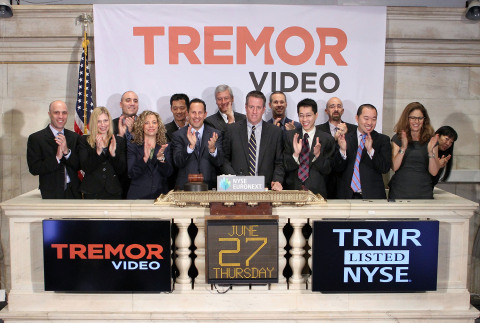 Tremor Video CEO Bill Day, joined by members of the company's leadership team, rings the NYSE Openin ...