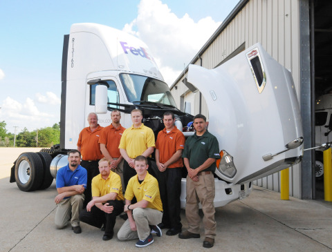 Eight fleet maintenance technicians will represent FedEx Freight at the national TMC SuperTech 2013 competition in September. (Photo: Business Wire)