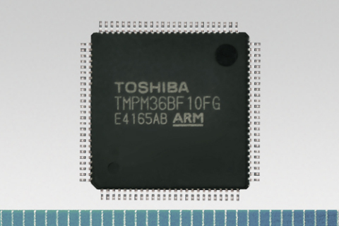 "Toshiba's microcontroller ""TMPM36BF10FG"" with 258KB on-chip SRAM (Photo: Business Wire)"