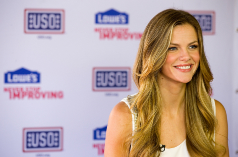 Actress Brooklyn Decker shows her support of the troops at the Lowe's Grill of Honor event in Washin ...