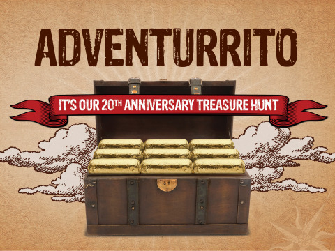 Chipotle celebrates 20th anniversary with 'Adventurrito' treasure hunt. (Photo: Business Wire)