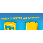 "Back Together. And Better Than Ever!! Bart Reunites with BUTTERFINGER(R) in Nestle's ""Nobody Better Lay A Finger"" Campaign (Graphic: Business Wire)"