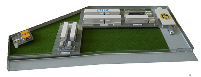Model of Toshiba's modular data center (Graphic: Business Wire)