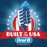 Oral-B(R) is celebrating American-built products with a Built in the USA campaign to challenge all Americans to start their day by brushing with an Oral-B Pro-Health(R) All-in-One manual toothbrush (Graphic: Business Wire)