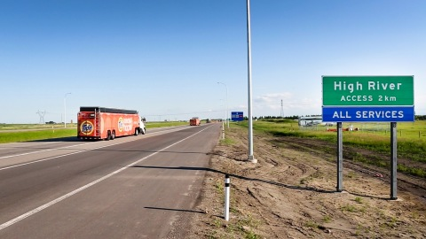 Tide Loads of Hope arrives in Alberta.(Photo: Business Wire)