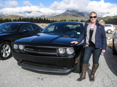 Rose Mayer of Autobytel and her beloved Dodge Challenger